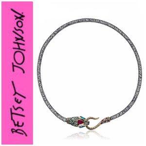 Betsey Johnson Dark Shadows Snake Collar Necklace